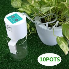 Portable Garden Plant Drip Irrigation Kit Self Watering System Auto Water Timer