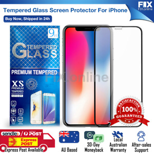 For Apple iPhone 6 7 8 Plus SE XS 11 12 Pro Max Tempered Glass Screen Protector