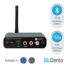BluDento 5.0 aptX HD True HiFi Bluetooth Burr Brown DAC Music Audio Receiver RCA