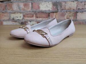 KURT GEIGER Carvela Womens Suede Flat Nude Pink Slip On Shoes Size 4 UK
