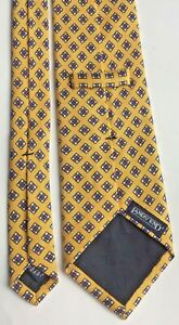 LANDS'END yellow Silk tie NWOT hand sewn in USA 🇺🇸, imported fabric