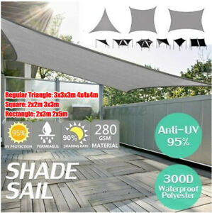 Outdoor Garden Patio Sun Shade Sail Canopy Awning Waterproof 90% UV