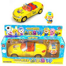 Pororo Sports Car Toy Full Back Gear METAL Yellow Animation Children Kids Gift