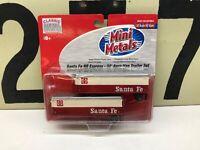 Mini Metals HO Scale ATSF Santa Fe 32' Aero Van Trailer Set 2-Pack NOS