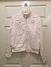 NWT Adidas Women's NBA New York Knicks White Gold Full Zip Track Jacket Small
