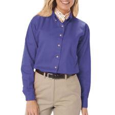 Camisa de mujer de color principal azul 100% algodón
