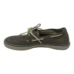 Sperry Top Sider Boat Shoes Mens Size 10.5 M Canvas Olive Lace Up Casual Deck