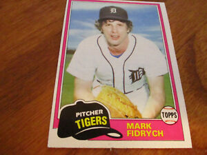 mark fidrych (detroit tigers - pitcher) 1981 topps CARD #150 nr/mint condition