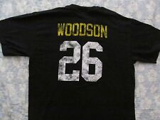 Pittsburgh Steelers 26 WOODSON Retro Jersey look Black T shirt Reebok M Medium