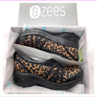 Bzees Cloud Technology Rosie Bottom Slip On Shoes Leopard 10W