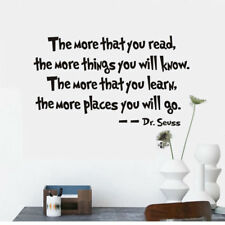 Dr. Seuss The More You Read Quote Vinyl Wall Decal Kids Study Sticker Home Decor