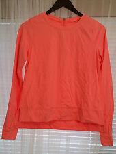 Lululemon Sz 6 Warm Up Crew Pullover Shirt Top B. Luxtreme Pop Orange EUC Zipper