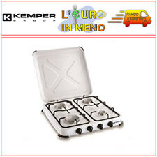 KEMPER FORNELLO A GAS 4 FUOCHI BRUCIATORE PROF. PER CAMPEGGIO 104983 FORNELLINO