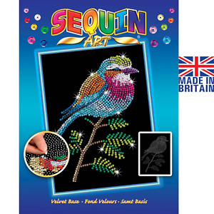 Sequin Art Lilac Breasted Roller Craft Set from the Blue range 1806