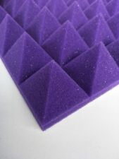 Hot Sale 8p Pyramid Acoustic Foam in Purple For Practice Music Room sound absorb