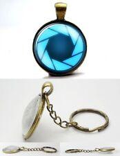 Portal Valve - Antique Bronze Tone Photo Glass Dome Keyring