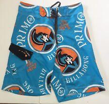 ea0b2c574e Primo Beer Billabong Platinum Board Surf Swim Shorts Trunks Size 28 Blue