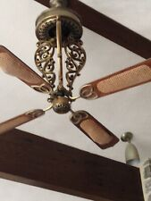 Casablanca Centennial New Orleans ceiling fan long scroll rare vintage Brass