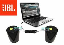 JBL Jembe Amplified Powerful 2 Piece Laptop Desktop Entertainment Speakers Black