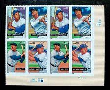2006 US SC #4080-4083 Baseball Sluggers Plate# Block 8