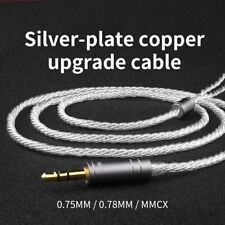 Earphone silver plated upgrade cable 0.750.78mmcx PIN For V80 IE80 VE8 VE5