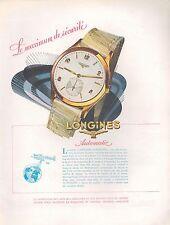 ▬► PUBLICITE ADVERTISING AD MONTRE LONGINES AUTOMATIC Bleuer