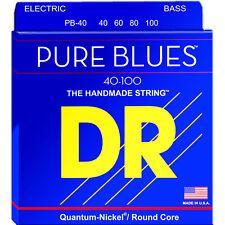 DR Strings PB-40 Pure Blues Bass Strings 40-100