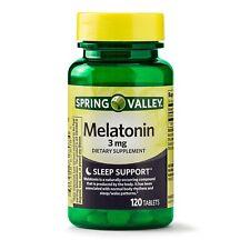 New Spring Valley Sleep Support Melatonin Tablets 3 Mg 120 Ct