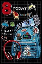 Tarjeta Cumpleaños Niños 8 Años Hoy 8 Pozo de los Deseos (A54)