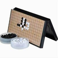 """Magnetic Travel Go Game Set Magnetic Plastic Stones X-Large Foldable board 14.5"""""""