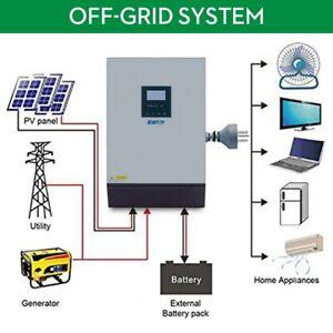 POWER Solar Inverter 3KVA 24V 220V Hybrid Inverter Pure Sine Wave POWER Solar In