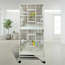 Eggshell White Double pet Cage Bird cage animal cage parrot cage cocktail cage