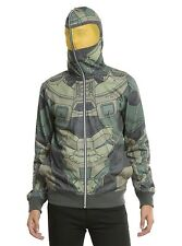Halo Master Chief Cosplay Full-Zip Hoodie hoody new with tags Size Mens Medium