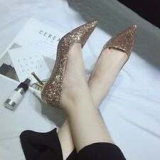Fashion Pointed Toe Solid Chic Pumps - Golden (XYG062129)