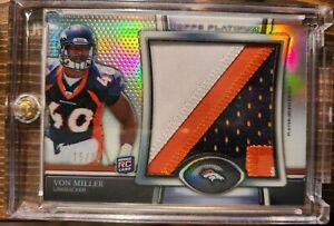 2011 Topps Platinum Von Miller 4 color sweet patch RC /36 Denver Broncos