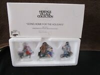Dept 56 Going Home For The Holidays / Heritage Village 3pc Set  NIB