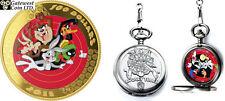 2015 $100 14-Karat Gold Coin and Pocket Watch - Looney Tunes (TM) (17332)