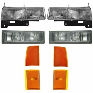 FOR CHEVY C1500 TRUCK 1988 - 1993 HEADLIGHT SIGNAL SIDE MARKERS RIGHT & LEFT SET