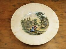 Antique 19c William Smith & Co Wedgewood plate saucer dog horse transferware