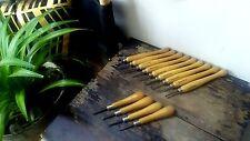 Vintage Lot 13 Wooden Handle Lathe Chisel Gouges Wood Carving Brookstone+