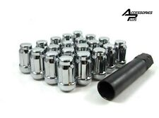 20 Pc Subaru 12mm x 1.25 CHROME SPLINE LUG NUTS Key Included Part # AP-5657