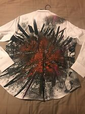 NWT Robert Graham 'Volcanic Rock' Classic Fit Print Sport Shirt - White - XL