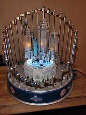 New ListingBradford Exchange Motion Lighted Music Box 2009 World Champion New York Yankees