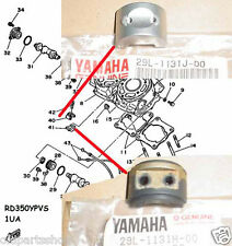 Yamaha RZ350 RD350YPVS Valve Holder NOS YPVS Joint 29L-1131H-00 + 29L-1131J-00