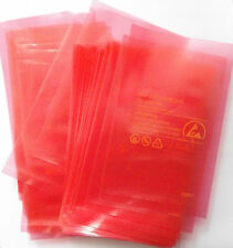"Antistatic pink bag Open Top size 75x125mm  (3""x5"")  x100pcs"