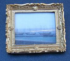 1:12 Framed Picture Print Of Ships In The Dawn Mist Dolls House Miniature Art JD