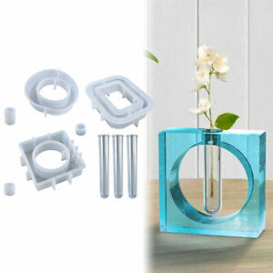 Hydroponic Vase Resin Casting Silicone Mold Flower Pot Mould Epoxy Art Craft DIY