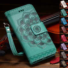Mandala Embossed Leather Wallet Case Cover For Samsung Galaxy Note 9 S8 S9 Plus