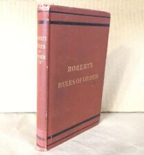 Antique Book 1904 ROBERT'S RULES OF ORDER Pocket Manual Books hardcover