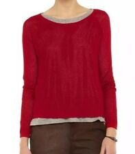 Rag & Bone Mesh Open Knit Sweater Red Size XS UK8 BNWT
